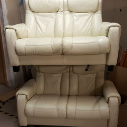 2 small seater settee x 2